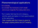 phenomenological applications