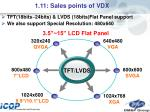 1 11 sales points of vdx