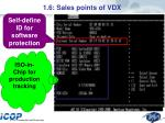 1 6 sales points of vdx