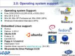 2 0 operating system support