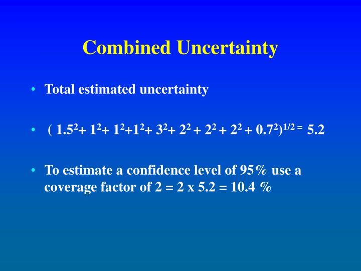 Combined Uncertainty