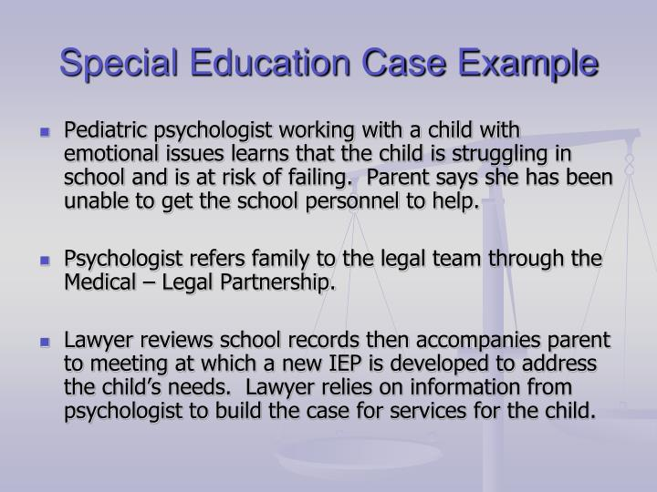 Special Education Case Example