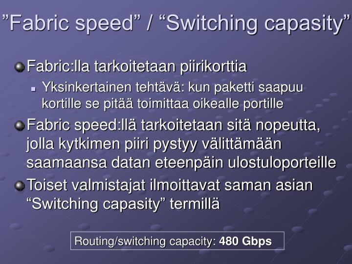 """""""Fabric speed"""" / """"Switching capasity"""""""
