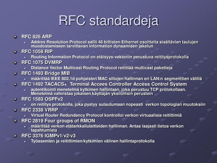 RFC standardeja