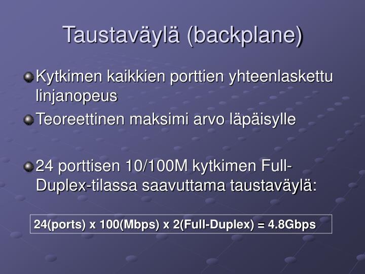 Taustaväylä (backplane)