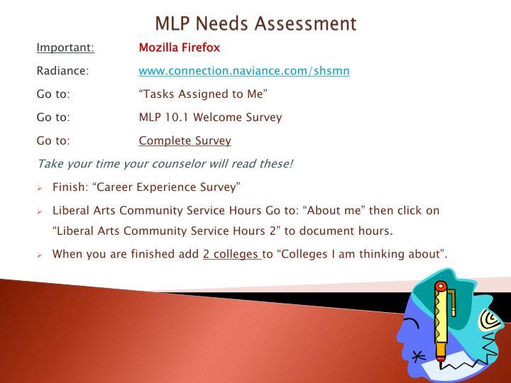 MLP Needs Assessment
