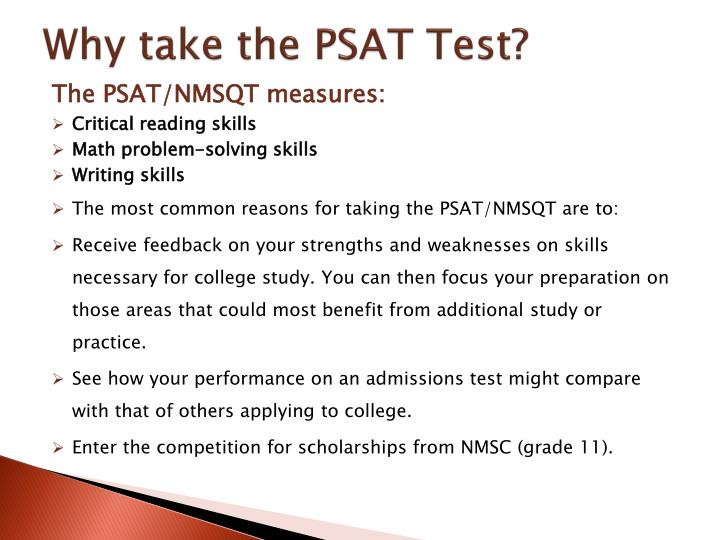 Why take the PSAT Test?