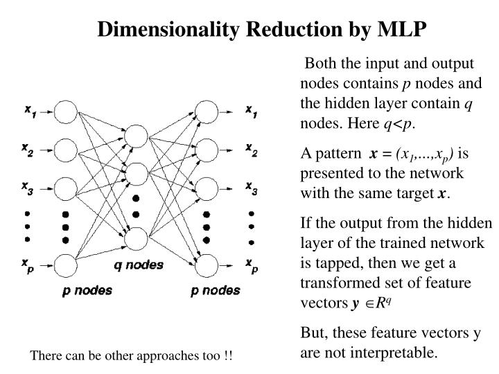 Dimensionality Reduction by MLP