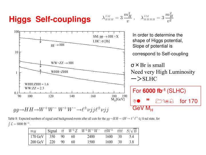 Higgs  Self-couplings