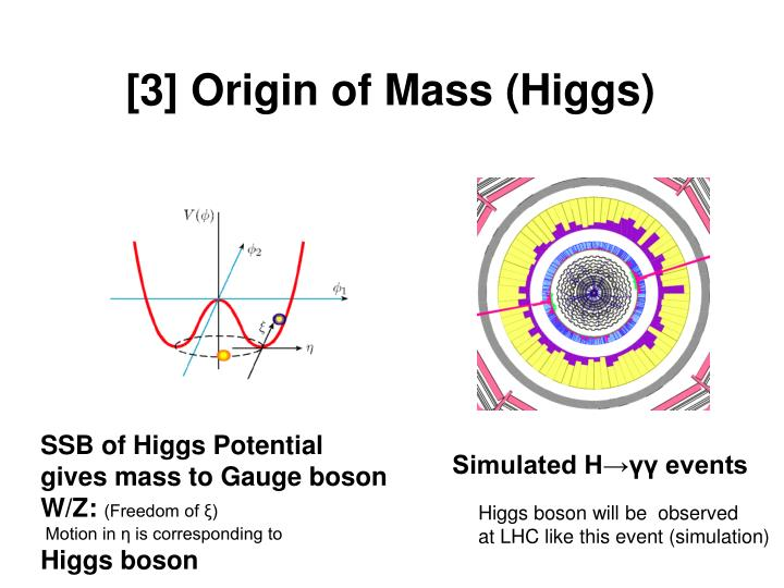 [3] Origin of Mass (Higgs)