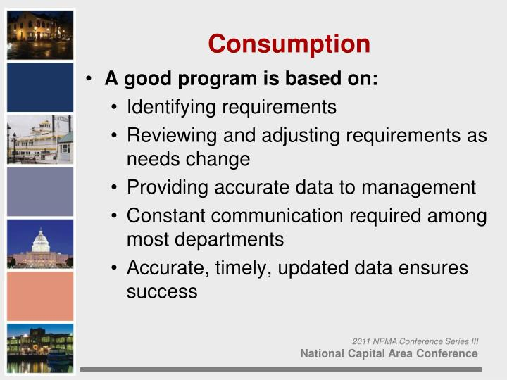 A good program is based on: