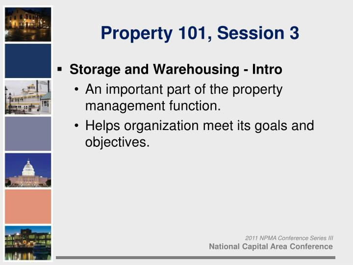 Property 101 session 3