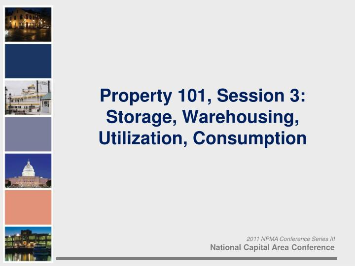 Property 101, Session 3: