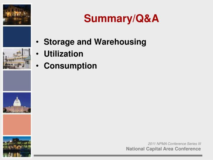 Storage and Warehousing