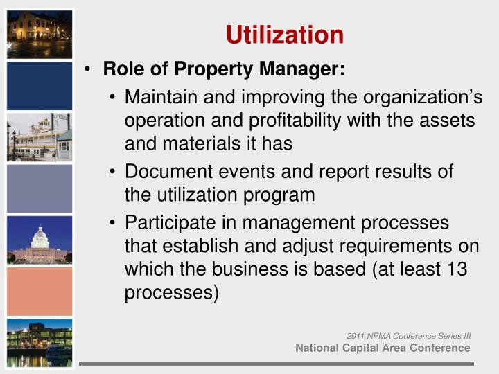 Role of Property Manager: