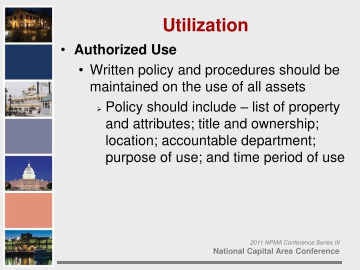 Authorized Use