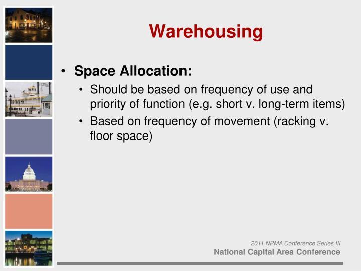 Space Allocation: