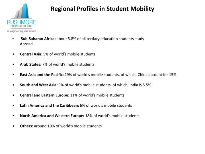 Regional Profiles in Student Mobility