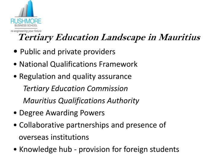Tertiary Education Landscape in Mauritius