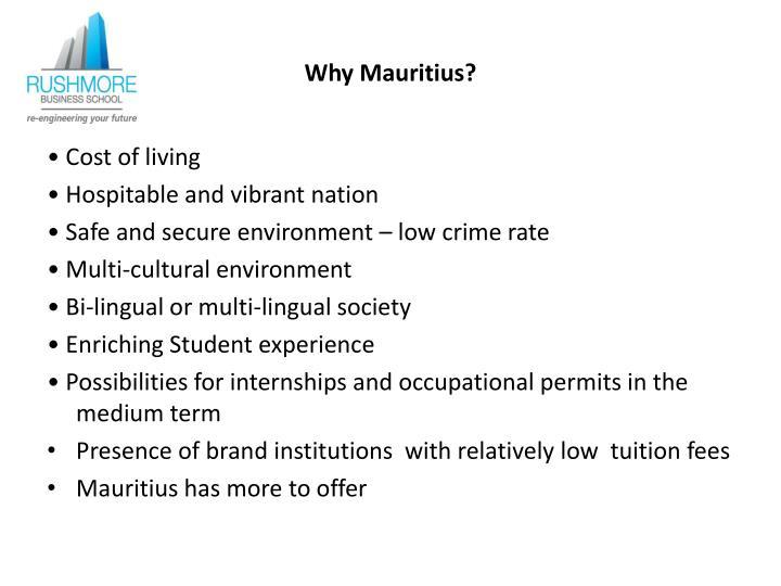 Why Mauritius?