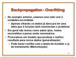 backpropagation overfitting