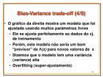bias variance trade off 4 5