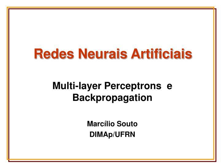redes neurais artificiais n.