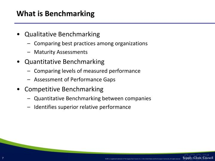 What is Benchmarking