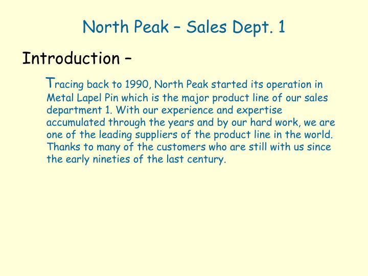 North Peak – Sales Dept. 1