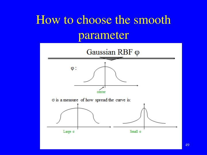 How to choose the smooth parameter