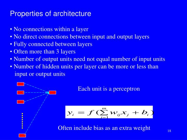 Properties of architecture