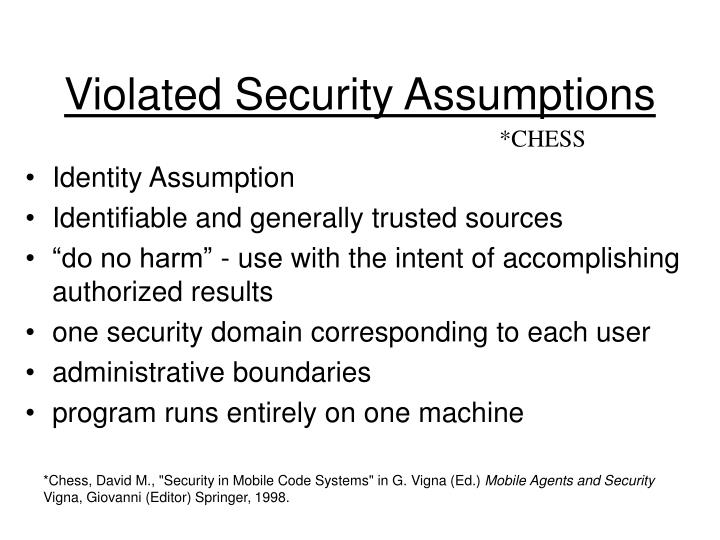Violated Security Assumptions