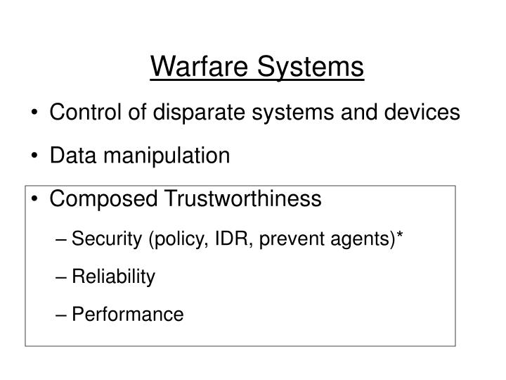 Warfare Systems