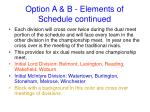 option a b elements of schedule continued