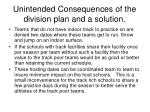 unintended consequences of the division plan and a solution