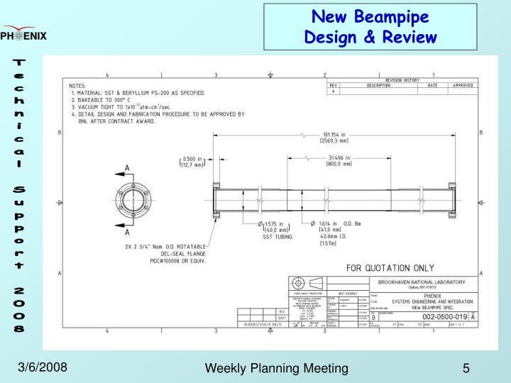 New Beampipe