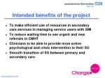 intended benefits of the project