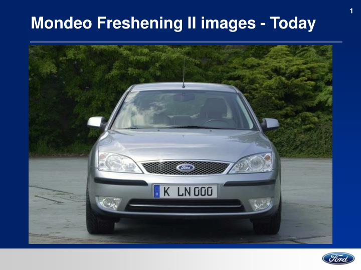 Mondeo freshening ii images today