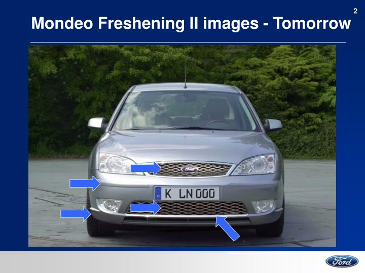 Mondeo freshening ii images tomorrow