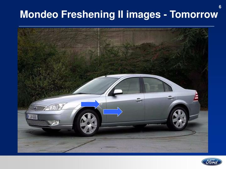 Mondeo Freshening II images - Tomorrow
