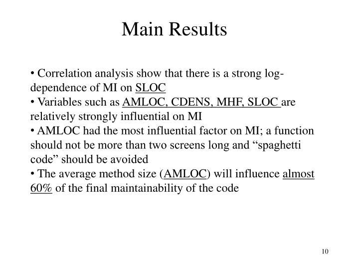 Main Results