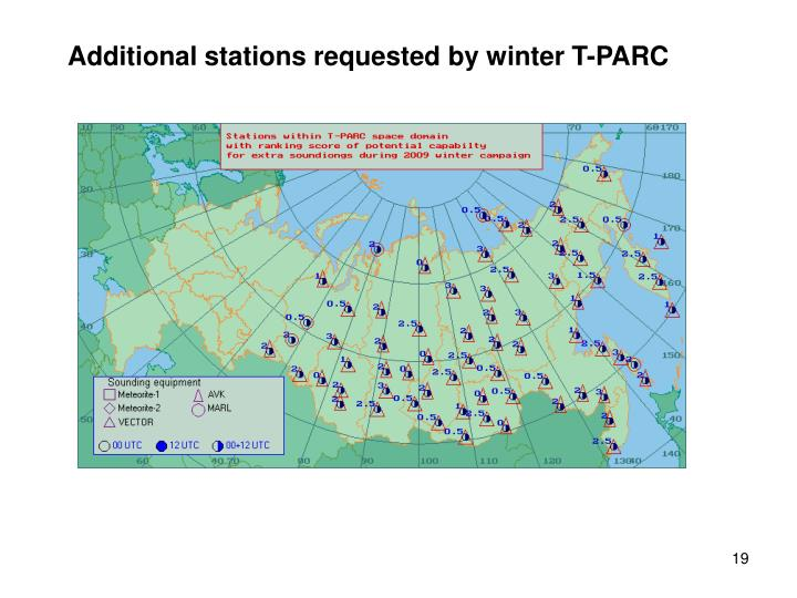 Additional stations requested by winter T-PARC