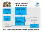 general approach rtd activities