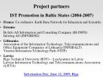 ist promotion in baltic states 2004 2007
