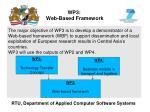 wp3 web based framework