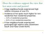 does the evidence support the view that hot areas exist and persist