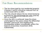 fair share recommendations