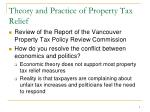 theory and practice of property tax relief