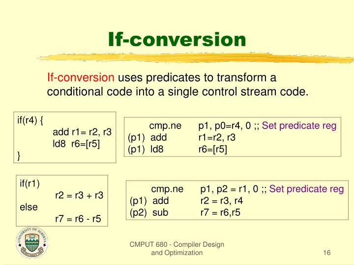 If-conversion