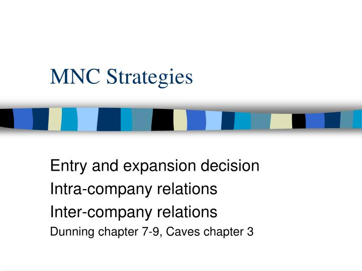 Mnc strategies
